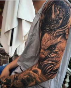 best_tattoos_ig__ - only best tattoos Bear Tattoos, Eagle Tattoos, Elephant Tattoos, Wolf Tattoos, Forearm Tattoos, Animal Tattoos, Body Art Tattoos, Animal Sleeve Tattoo, Badass Tattoos