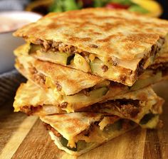 Cheeseburger Quesadillas with Special Sauce - Iowa Girl Eats Gluten Free Recipes For Dinner, Gluten Free Desserts, Easy Dinner Recipes, Dessert Recipes, Dinner Ideas, Quesadillas, Food Print, A Food, Food Processor Recipes