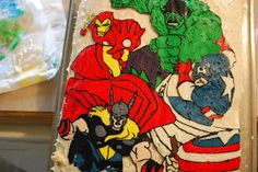 I am totally trying this for the twins minion cake!!!! Sunshine and a Summer Breeze: Avengers Birthday Cake