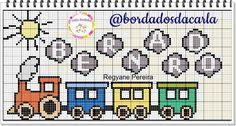 Cross Stitch, Diagram, Baby, Cross Stitch Love, Cross Stitch For Baby, Cross Stitch Train, Handmade Embroidery Designs, Toss Pillows, Children