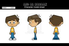 Abd Al Razak model sheet by ~X-Factorism on deviantART blueprint model sheet