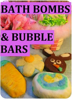 DIY Spring time Bubble Bars & Bath Bombs Recipe + Easter Egg Chocolate Bath Bombs + Bunny Bubble Bars. Homemade Gift Idea for Easter.