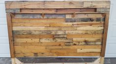 Rustic Headboard - Reclaimed Pallets Reclaimed Wood Headboard, New Beds, Custom Woodworking, Bed Frame, Pallets, Rustic, Crafts, Country Primitive, Bed Base