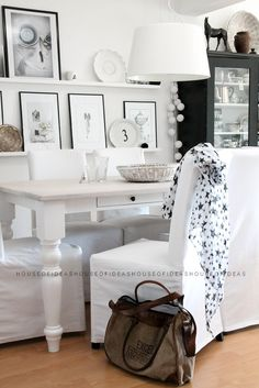 HOUSE of IDEAS dining table, black&white http://myhouseofideas.blogspot.de/