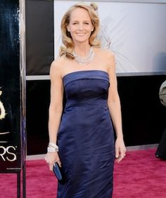This Is The Most Surprising Red-Carpet Gown We've Seen In Years...Helen Hunt wearing H $700,000 worth in diamonds.