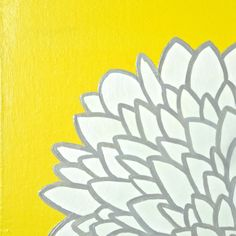 I think I can make this myself for the bedroom....gray + yellow!