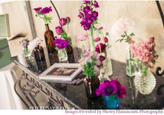 Planning a boho wedding. Guestbook table