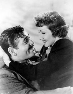 """Clark Gable and Claudette Colbert """"Boom Town"""""""