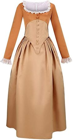 Cos-Love Womens Colonial Lady Corset Styled Dress Victorian Rococo Ball Gown Maiden Costume Plus Size Medieval Dress
