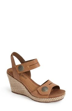 5ffe084731d7 Cobb Hill  Molly  Leather Wedge Platform Sandal (Women) Leather Wedges