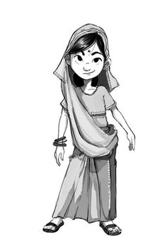 Image result for indian girl character design