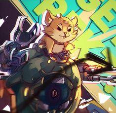 """Mizu @ (*´・v・) @mizururu """"GET REKT!!"""" - Wrecking Ball #Overwatch"""