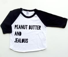 Peanut Butter and Jealous Raglan / King and Sage Jealous, Sage, Peanut Butter, Graphic Tees, King, Unisex, Stylish, T Shirt, Clothes