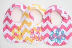 Personalized bib Monogrammed bib Baby by SouthernStyleStitche
