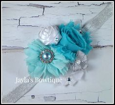 Frozen Inspired Couture Headband by JaylasBowtique on Etsy