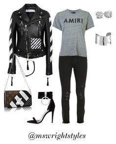 """""""Untitled #358"""" by mswrightstyles on Polyvore featuring Off-White, AMIRI and Lord & Taylor"""