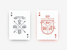 The aces for «Hipsteria» deck. Each card is inspired by vintage emblems and marks.  Available on Kickstarter: www.kickstarter.com/projects/2115236027/hipsteria-playing-cards