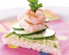 papy shrimp & avocado butter sandwiches