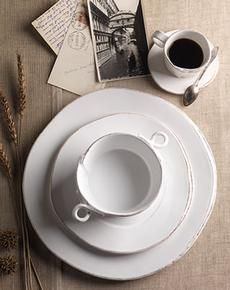What I want ~ Vietri Lastra White all of it! -) u003e & With simple fish shapes a crisp white finish and exposed stoneware ...