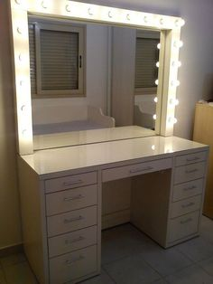 In the process of designing my vanity that I'm going to build myself Vanity Room, Vanity Desk, Room Ideas Bedroom, Bedroom Decor, Rangement Makeup, Glam Room, Bedroom Accessories, Beauty Room, Dream Rooms
