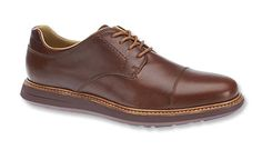 Every man should own a pair of cap-toe leather Oxfords; the discerning man, however, should own a pair of these by Sebago®. Lightweight, durable, and handsome, thanks to the Strobel-and-cement construction. Leather-and-textile uppers and blind eyelets for the elegant Oxford look. Round, waxed cotton laces. Leather and textile covered OrthoLite® footbeds provide all-day comfort. Genuine storm welt. Non-marking, slip-resistant wave-siping provides traction on the EVA outsole.