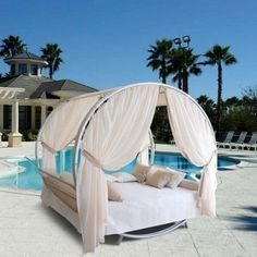 Luxury Outdoor Sun Lounge Set by Outdoor Patio Wood Furniture Blowout on Bed Sets, Outdoor Daybed, Outdoor Furniture, Outdoor Lounge, Outdoor Pool, Wood Furniture, Pool Lounge, Outdoor Curtains, Unique Furniture