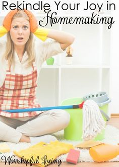 If there is one area we are quick to lose our joy, it is in our homemaking. How do we find joy in taking care of our homes? Christian Wife, Christian Living, Christian Faith, Christian Resources, Always Learning, Joy And Happiness, Godly Woman, Finding Joy, Christian Inspiration