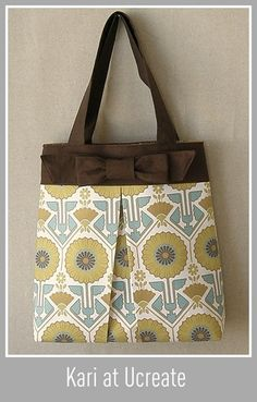 Super cute bag! Fun for church! free pattern