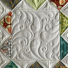 """395 Likes, 19 Comments - Vicki Ruebel (@orchidowlquilts) on Instagram: """"One last pic of this quilt. I wanted to share a close up of the block without the reference lines I…"""""""