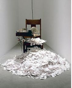 "Tim Hawkinson AUTOMATON WRITING - I need one of these. Only, with a ""Stack Pages Neatly"" option."