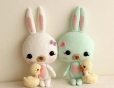 Easter Bunny And Chick Pdf Pattern