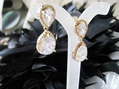 Wedding Earrings Rhinestone Earrings Wedding by weddingswithflair