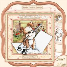 Pawsitive Thoughts All Occasions Decoupage & Insert Mini Kit