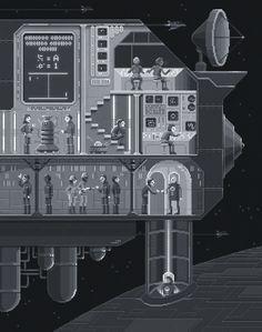 'First Contact' // Illustrations by Octavi Navarro #PixelArt
