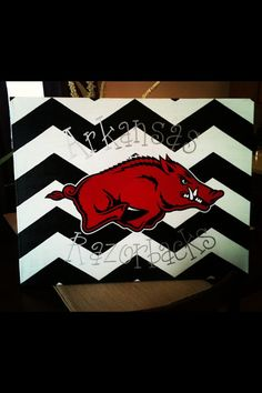 Love this Razorback canvas and font!