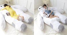 "Sweet dreams are made of this ""Big Hero 6"" Baymax bed. Omg!!! I want one!!"