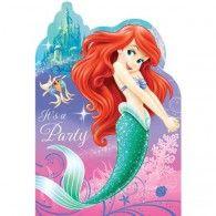 The Little Mermaid Invitations (8pk) $7.95 A495074