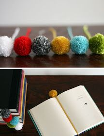 Pompom book markers