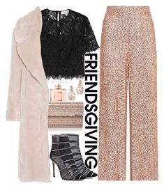 """Freindsgiving"" by mihai-theodora ❤ liked on Polyvore featuring Jimmy Choo, Chanel, Diane Von Furstenberg, Temperley London, Cédric Charlier and BillyTheTree"