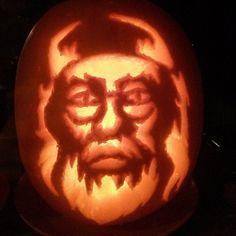 Pin for Later: 24 Last-Minute, Magical Harry Potter Pumpkin Ideas Dumbledore