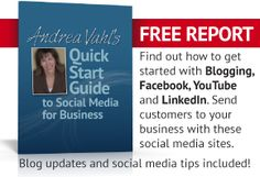 Check out #AndreaVahl's #QuickStart #Guide to Social Media for Business. Free report teaches, organizes, inspires.