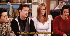 The One With The Friends Quiz #refinery29  http://www.refinery29.com/2014/12/79927/friends-trivia-episode-quiz#slide8  Answer: Miss Chanandler Bong  (Rachel incorrectly guesses Chandler Bing.)