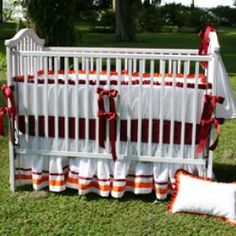 .Virginia Tech Crib Set our poor child.....