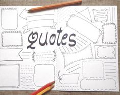 Quotes blank boxes bullet journal printable planner agenda journaling template layout page notebook with blank boxes where you can write the phrases and Bullet Journal Inspo, Bullet Journal List Ideas, Bullet Journal Design, Bullet Journal Page, Bullet Journal Quotes, My Journal, Journal Notebook, Journal Pages, Bullet Journal Ideas Templates