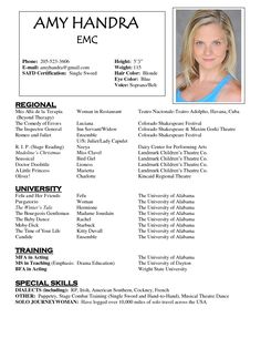 resumes are one of the key ingredients in getting an acting career