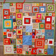 At first glance this looked like a 'Klimt' quilt... It's a 'shirt box' pattern by Kaffe Fassett.
