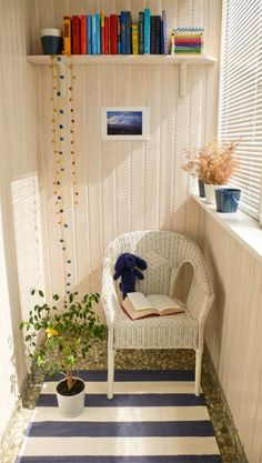 Sun porch.  So simple yet I can't stop staring.  Would be a great set up for a tiny balcony.