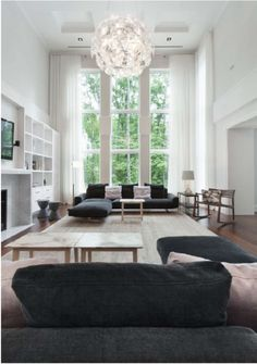 What if I went black and white with the open floor plan with spurts of color...???hmmm