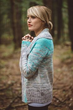 Comfort Fade Cardi Knitting pattern by Andrea Mowry