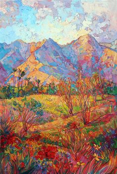 The Indian Wells Art Festival poster painting for 2015, by Erin Hanson